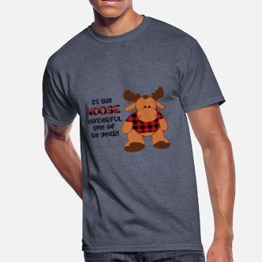 Buffalo Plaid moose wonderful time of the year - Men's 50/50 T-Shirt