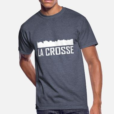 La Crosse Wisconsin La Crosse Wisconsin City Skyline - Men's 50/50 T-Shirt