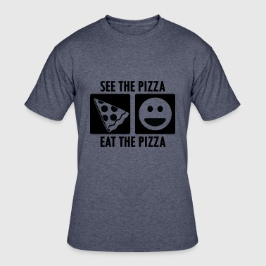 Pepperoni Quotes See the Pizza Eat the Pizza - Men's 50/50 T-Shirt
