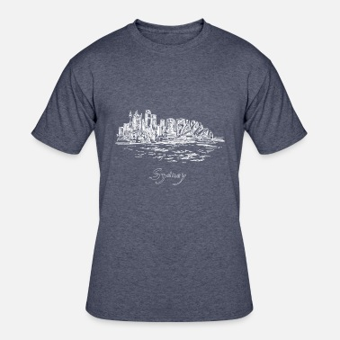 Harbour Bridge Sydney City - Australia - Men's 50/50 T-Shirt