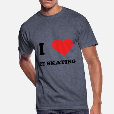 I Love Ice Skating I Love Ice Skating - Men's 50/50 T-Shirt