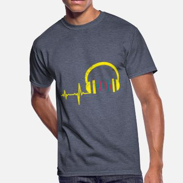 Discjockey gift heartbeat DJ Discjockey 03 - Men's 50/50 T-Shirt