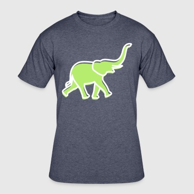 Elephant Pictogram A Big Elephant With Trunk - Men's 50/50 T-Shirt