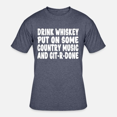 Drinking Whiskey Drink Whiskey  - Men's 50/50 T-Shirt