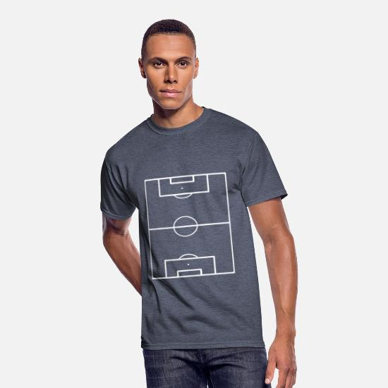 Playing Field T-Shirts - Football Field Soccer Pitch Playing Field Ground - Men's 50/50 T-Shirt navy heather