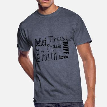 Spiritual Words Words of strength - Men's 50/50 T-Shirt