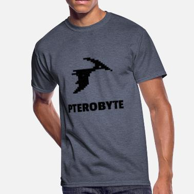 Pterodactyl Pterobyte | Epic Digital Dinosaur - Men's 50/50 T-Shirt