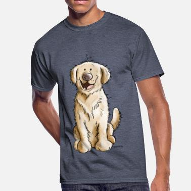 Smile Dog Smiling Golden Retiever - Dog - Dogs - Gift - Men's 50/50 T-Shirt