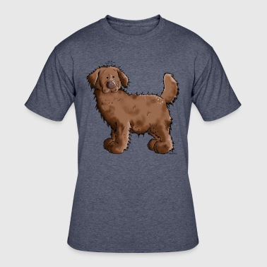 Brown Newfoundland Dog - Newfi - Dogs - Gift - Men's 50/50 T-Shirt