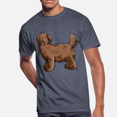 Brown Newfoundland Dog Brown Newfoundland Dog - Newfi - Dogs - Gift - Men's 50/50 T-Shirt