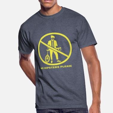 Hipster Please No hipsters please - Men's 50/50 T-Shirt