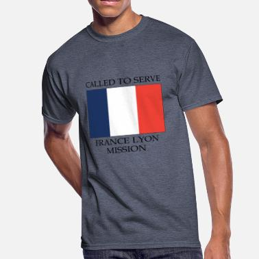 Lyon France Lyon Mission LDS Mission Called to Serve - Men's 50/50 T-Shirt