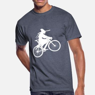 Witch Riding The Bike witch on bike - Men's 50/50 T-Shirt