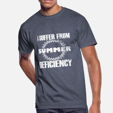Defici I suffer from summer deficiency - statement quote - Men's 50/50 T-Shirt