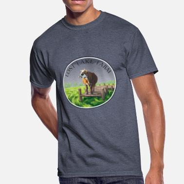 Lost Logo Lost Lake Farm Logo - Men's 50/50 T-Shirt
