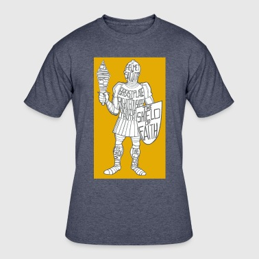 Dave The Cat Suit Of Armor GOLD - Men's 50/50 T-Shirt