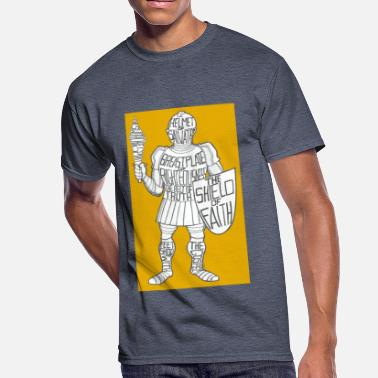 Suit Of Armor Dave The Cat Suit Of Armor GOLD - Men's 50/50 T-Shirt