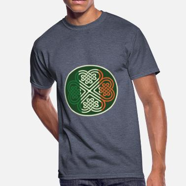 Irish Celtic Celtic Irish Clover Desighn - Men's 50/50 T-Shirt