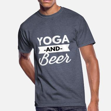 Drunk Yoga Yoga and Beer - Men's 50/50 T-Shirt