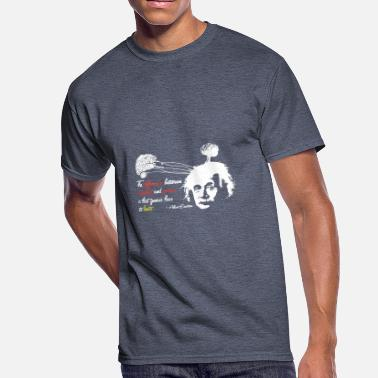 Albert Albert Einstein Shirt with Genius Quote - Men's 50/50 T-Shirt