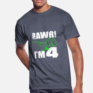 4 Year Old Boy Kids 4th Birthday Dinosaur Gift T Shirt For
