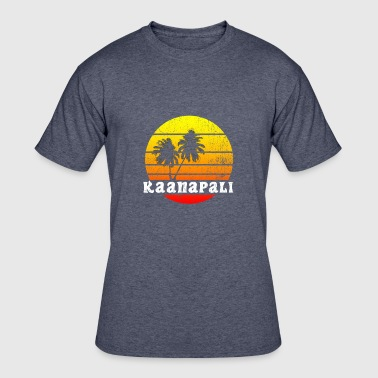 KAANAPALI Summer Retro Hawaii Shirt - Men's 50/50 T-Shirt