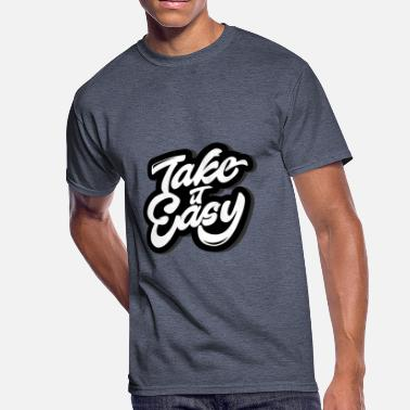 Easy Optimism Take it Easy - Men's 50/50 T-Shirt