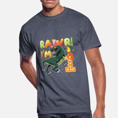 1 Birthday Dinosaur 1st Shirt Years Old Rawr I39m