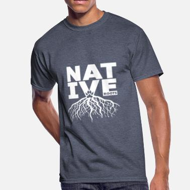 Comanche NATIVE ROOTS NATIVE AMERICAN - NATIVE BLOOD - GIFT - Men's 50/50 T-Shirt