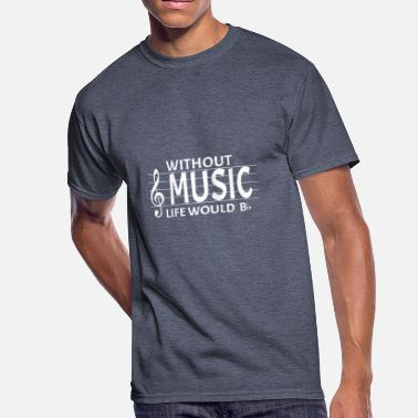 The Music Pun Without Music Life Would Be Flat Music Pun - Men's 50/50 T-Shirt