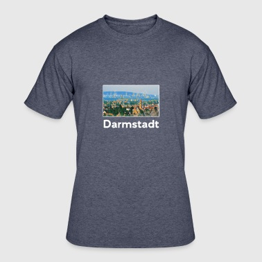 Darmstadt Darmstadt City Skyline Sights Silhouette - Men's 50/50 T-Shirt