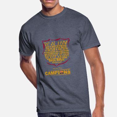 25d92d3a2 Fc Barcelona Lyrics of the FC Barcelona Anthem - Men  39 s 50 . Men s 50 50  T-Shirt