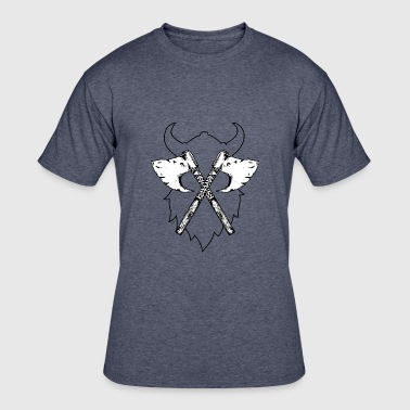 new Vikings Viking Axe, Greeting from Valhall 4 - Men's 50/50 T-Shirt