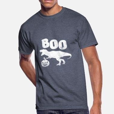 Boo Boooo Boooo T-Rex with pumpkin head - Men's 50/50 T-Shirt