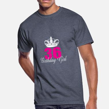 36 Years Old Birthday Girl 36 Years Old - Men's 50/50 T-Shirt