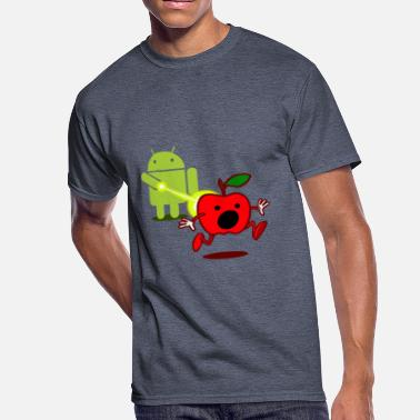 Android Developer Funny T Shirt Android Attack Apple - Men's 50/50 T-Shirt