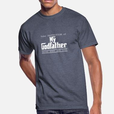 Godfather Funny Under Protection of Godfather - Men's 50/50 T-Shirt