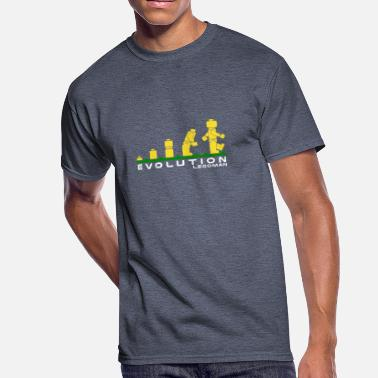 Evolution Evolution of Lego Man - Men's 50/50 T-Shirt