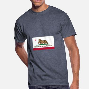 Fucking California NEW CALIFORNIA REPUBLIC - Men's 50/50 T-Shirt