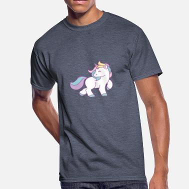 Cute Comics Funny Cute Unicorn Comic - Men's 50/50 T-Shirt