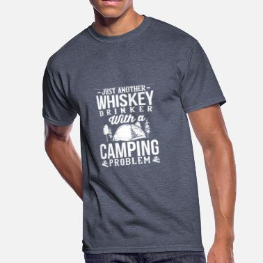 fb05363ee Love Whiskey Love Whiskey and Camping - Men's 50/50 T