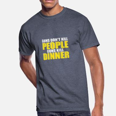 Guns Don T Kill New Design Guns Don t Kill People Guns Kill Dinner - Men's 50/50 T-Shirt