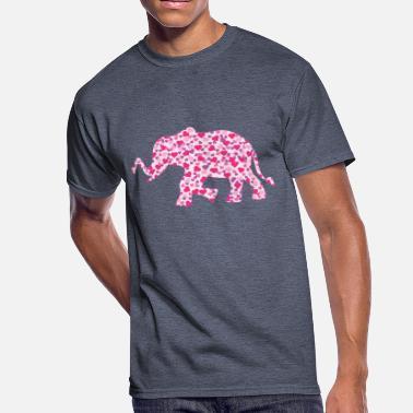 58a997c61fae Pink Elephant Elephant-Pink-Hearts (1) - Men  39 s