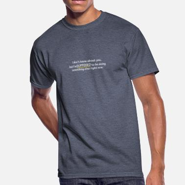 Right Now Right Now - Men's 50/50 T-Shirt