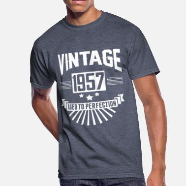 1957 Aged To Perfection VINTAGE 1957 - Aged To Perfection - Men's 50/50 T-Shirt