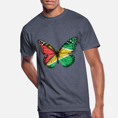 Flag Of Guyana Butterfly Flag Of Guyana - Men's 50/50 T-Shirt