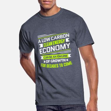 Clean Earth Clean Energy Low Carbon economy - Men's 50/50 T-Shirt