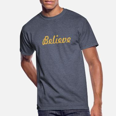 Power Of Word Believe... Life Inspirational Word - Men's 50/50 T-Shirt