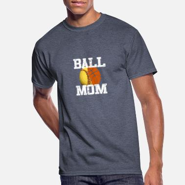 Funny Softball Basketball Mom Gift Tee - Men's 50/50 T-Shirt
