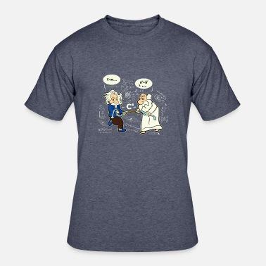 Pythagoras Fight Einstein Funny Physical Science Men T Shirt Cotton S-5XL Black
